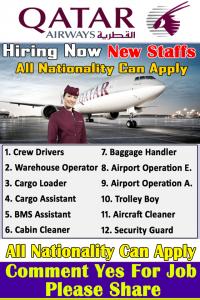 Qatar Airways Jobs  Urgent 2021 