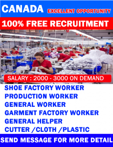 Factory Workers Job in Canada  Urgent 2021 