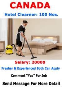 Hotel Cleaning Jobs in CANADA   Urgent 2021 
