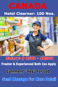 Supermarket Jobs in Canada for Foreigners| 2021 |