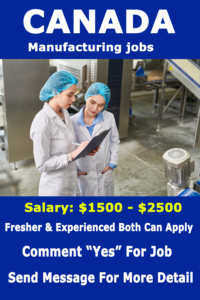 Canada manufacturing jobs  50+ Factory Worker Jobs in Canada Apply Right Now