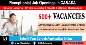 Receptionist Jobs in Canada