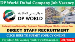 Dp World Dubai Company Job Vacancy
