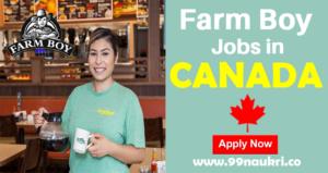 Farm Boy Jobs in Canada