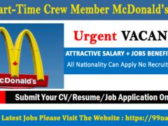 Part-Time Crew Member McDonald's